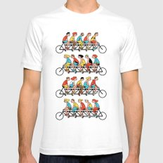 Bicyclists Mens Fitted Tee White SMALL