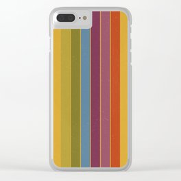Retro Movie Camera Color Palette Clear iPhone Case