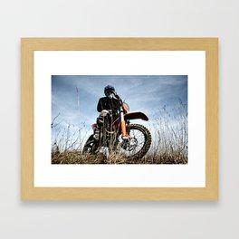 KTM Moto Framed Art Print