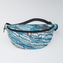 Blue Marble with Black Fanny Pack