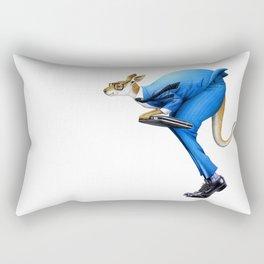A kangaroo businessman Rectangular Pillow