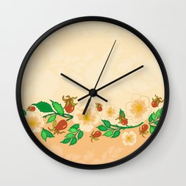 Abstract roses background Wall Clock