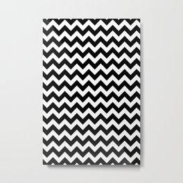 Classic Chevron Pattern Metal Print