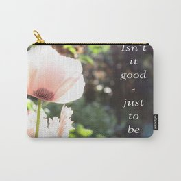 "Pink Poppy ""alive"" Carry-All Pouch"