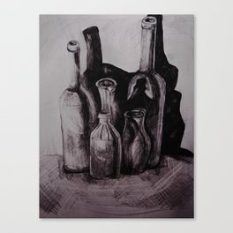 empty bottles Canvas Print