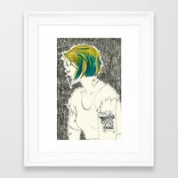 paramore Framed Art Prints featuring Waking from the dead by Marconte