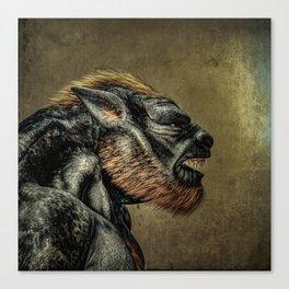 Portrait of a Werewolf Canvas Print