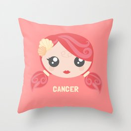 Cancer Throw Pillow