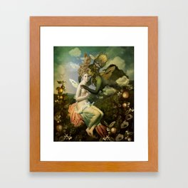 """""""The body, the soul and the garden of love"""" Framed Art Print"""