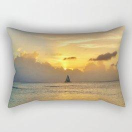 Sailing away to infinity. Rectangular Pillow