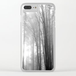 Fogged in Trees Clear iPhone Case