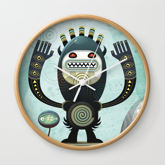 Alien Guard Wall Clock