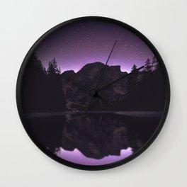 night reflection Wall Clock