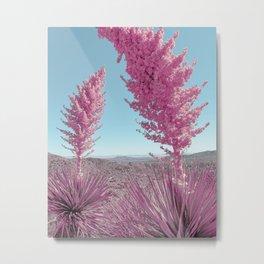 Pink Yuccas Metal Print
