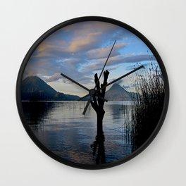 Sunrise at Lago Atitlan,Guatemala Wall Clock