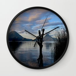 Sunrise at Lago Atitlan,Guatemala Wall Clock