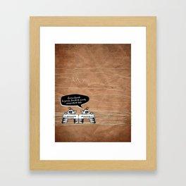 guerra Framed Art Print