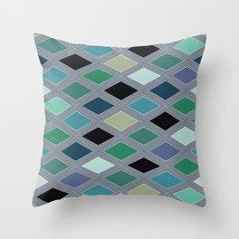 Colorful rhombus design 2 Throw Pillow