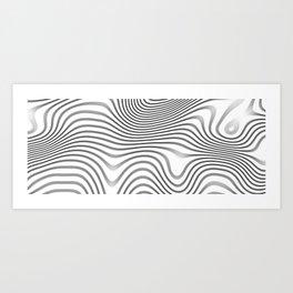 Organic Abstract 02 WHITE Art Print