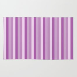 Pink and purple stripes pattern Rug
