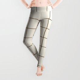 Grid (Cream/Chocolate) Leggings
