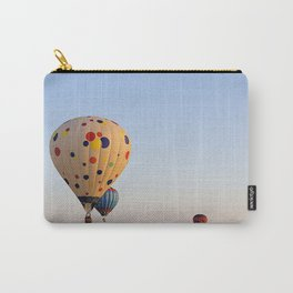 Three Colorful Hot Air Balloon Carry-All Pouch