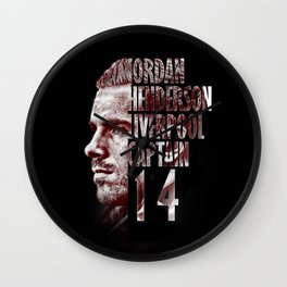 Liverpool FC: Jordan Henderson design Wall Clock