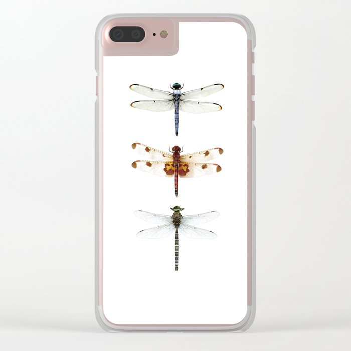 Dragonfly Collector Clear iPhone Case