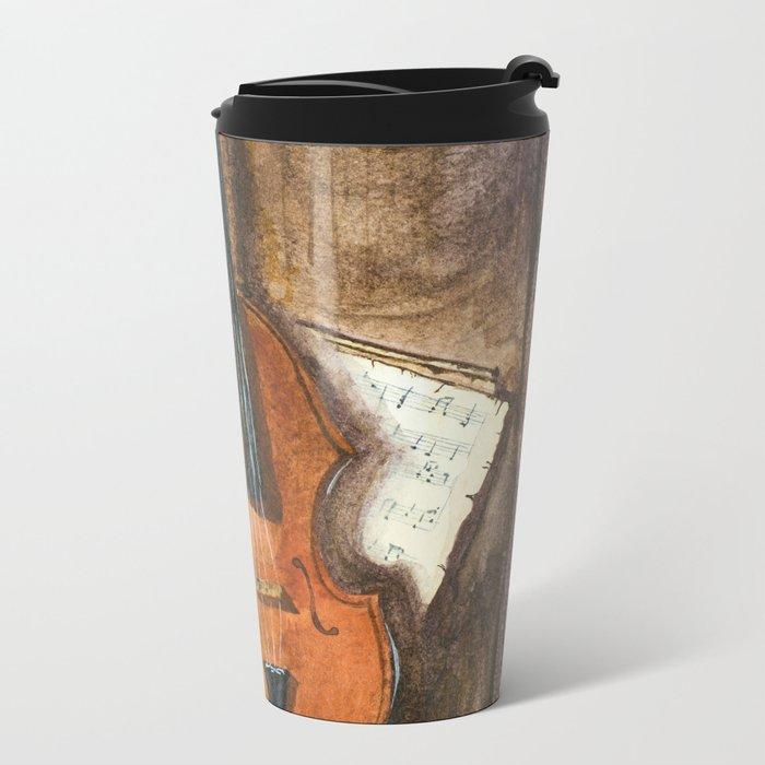 The Violin Metal Travel Mug
