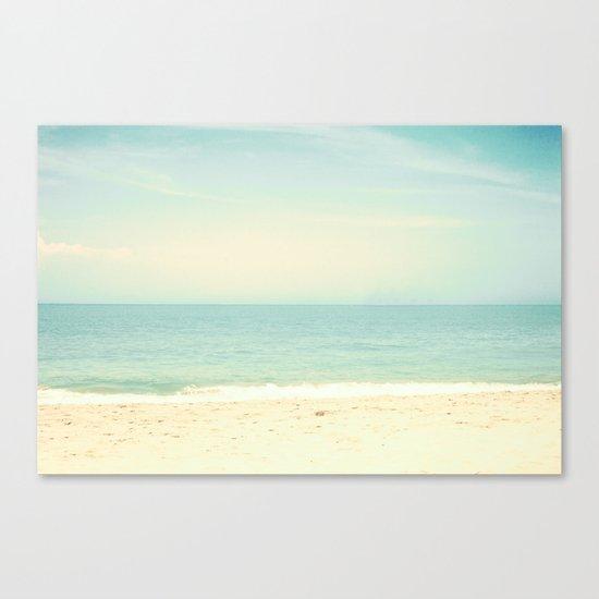 Pastel Retro Beach  Canvas Print