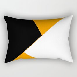 Orange and Black Design Rectangular Pillow