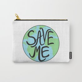 Save Me Earth Hand Drawn Carry-All Pouch