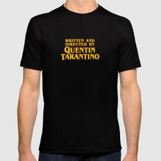 Written and Directed by Quentin Tarantino (yellow variant) Black MEDIUM Mens Fitted Tee