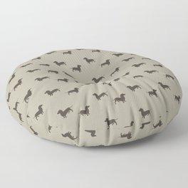 Minimalist Dachshund Pattern Floor Pillow