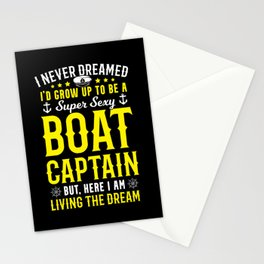 Live the dream - Sexy Captain Stationery Cards