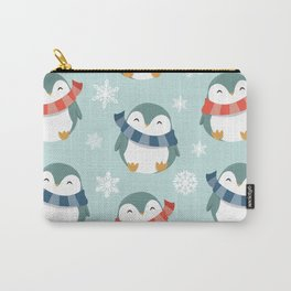 Winter penguins pattern Carry-All Pouch