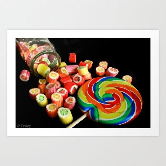 Candy Rocks, Candy Sucker Art Print
