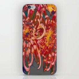 Chrysanthemum-Red/Pink/Yellow iPhone Skin