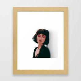 Feeling Girl Portrait Framed Art Print
