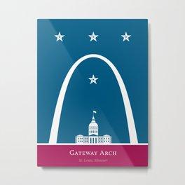 America: St. Louis Arch Metal Print