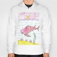 tennessee Hoodies featuring Tennessee Lake Sturgeon by Ryan van Gogh