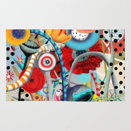 Colorful Happy Days  Rug