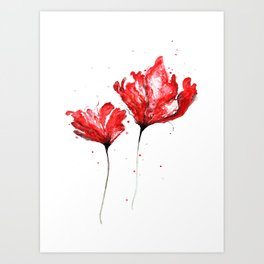 Poppy blooming 3 Art Print