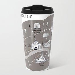 Mapping Melbourne - Grey Travel Mug