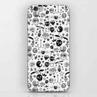 day of the dead iPhone & iPod Skins featuring Day of the dead by Farnell