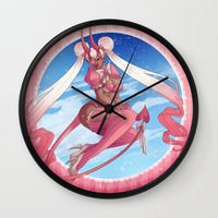 magical girl Wall Clocks featuring Magical Girl by Rebeccacablah