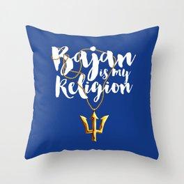 Bajan is my Religion Throw Pillow
