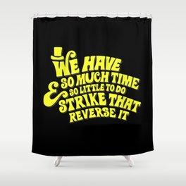 Strike That... Reverse It Shower Curtain