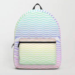 Pastel Rainbow Ombre Chevron Stripe Backpack