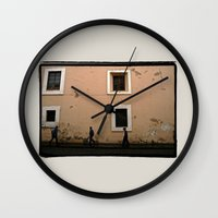 street Wall Clocks featuring Street by Dave Houldershaw